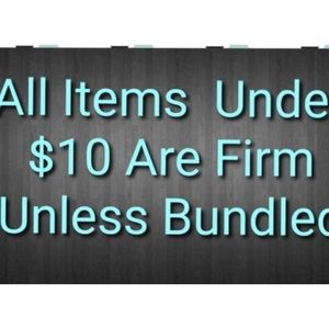 Other - Items $10 and under are firm